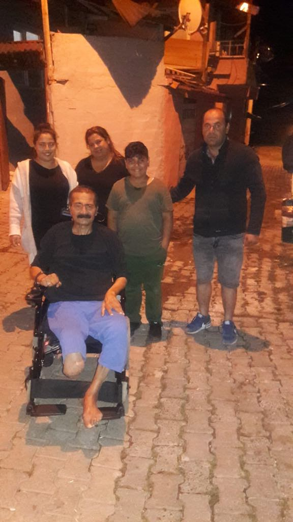 We contributed battery-operated wheelchair to person who is in need