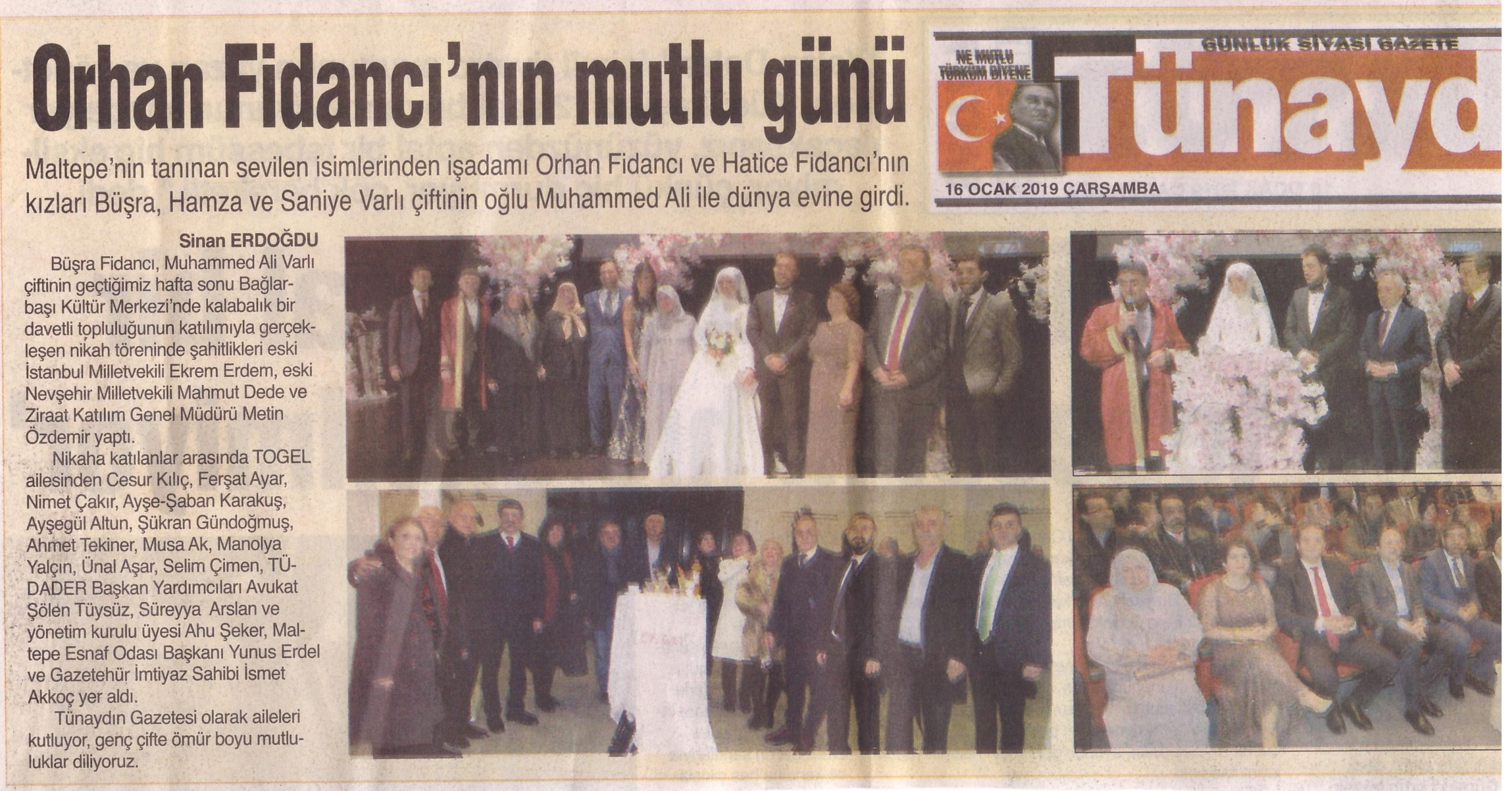 Orhan Fidancı'nın mutlu günü